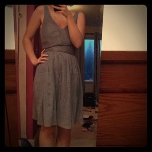 Brand new grey formal dress